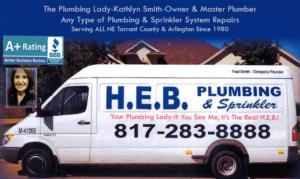 Tarrant County HEB Plumbing Van