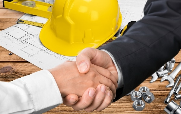 A plumber and contractor agree on a proposal