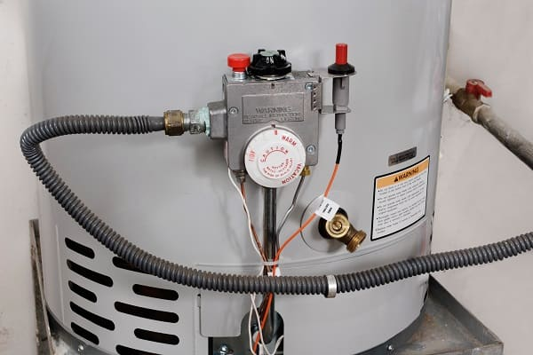 Water temperature controls on a hot water heater