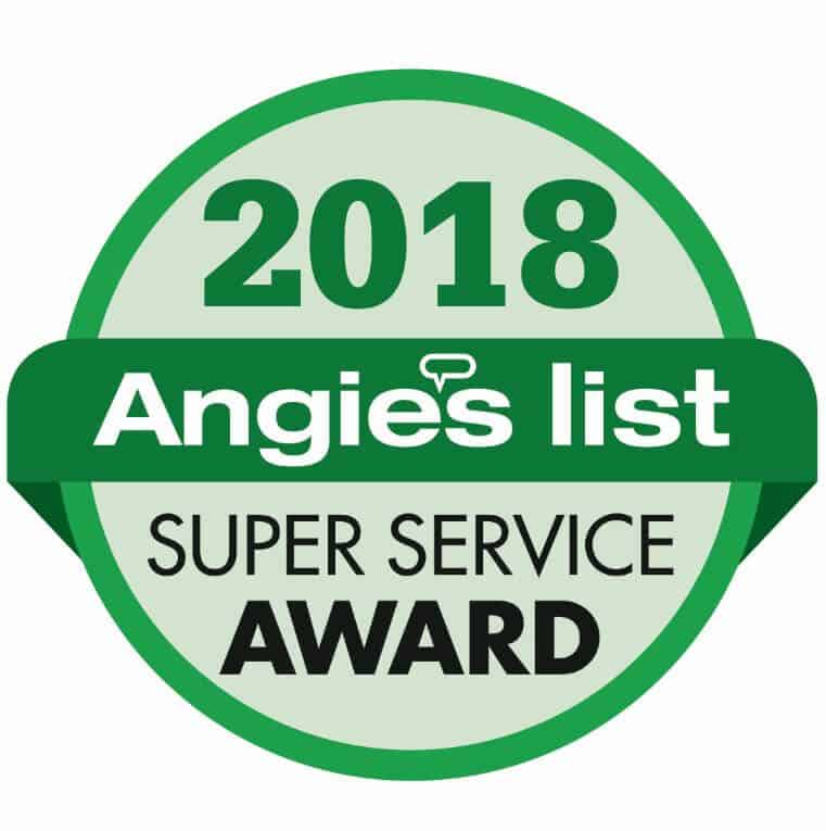 2018 Super Service Award from Angie